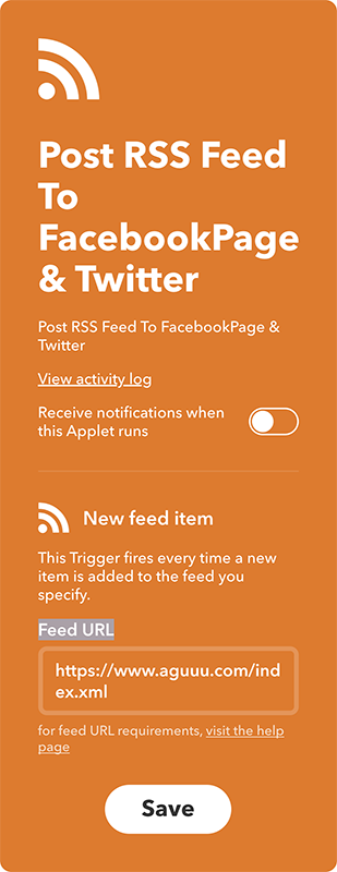 Post RSS Feed To FacebookPage & Twitter \- IFTTT